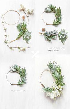 asymmetrical wreath | DIY by @fetepress
