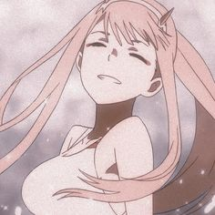 Zero Two- Darling in the Franxx 彡 Chica Anime Manga, Kawaii Anime, Anime Art Girl, Manga Art, Aesthetic Art, Aesthetic Anime, Anime Shop, Chlorophytum, Cute Anime Character