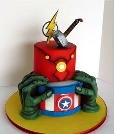 cakes cake, avenger cake и birthday ca Avenger Cake, Fondant Cakes, Cupcake Cakes, Avengers Birthday Cakes, Marvel Cake, Gateaux Cake, Superhero Cake, Character Cakes, Cakes For Boys
