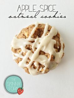Skinny Apple Spice Oatmeal Cookies, yummy for breakfast or dessert [all real ingredients, nothing funky] via The Skinny Fork #fall #Thanksgiving