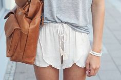 Cotton draw string shorts