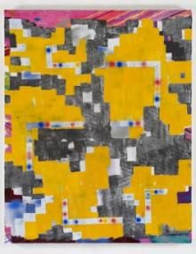 Keltie Ferris, Greater Than> or Equal to=, 2012 Oil, acrylic and pastel on canvas, 60 by 48 in. Think Of Me, Are You Happy, Make It Yourself, Canvas, Artist, Interview, Pastel, Painting, Oil