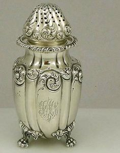 Sweet! An antique sterling silver sugar shaker by Howard and Co of New York dated 1895.