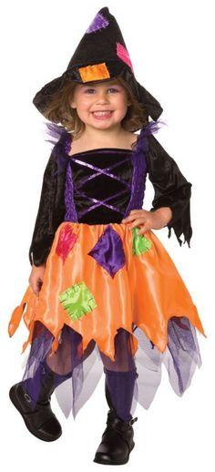 Girls Purple /& Orange Light up Witch Halloween Costume w Owl print Hat S//M Child