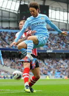 David Silva got some air