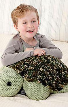 Ravelry: Turtle Pillow Pal Crochet Pattern. FREE pattern by Nancy Anderson.