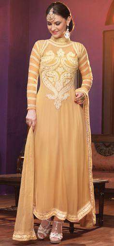 USD 62.45 Beige Georgette Designer Salwar Kameez 44216