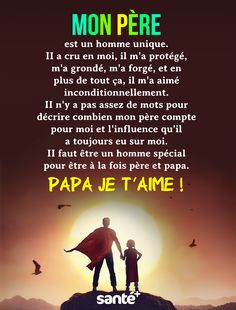 MON pèRE est un homme unique. II a cru en moi, il m'a protégé, m'a grondé, m'a forgé, et en plus de tout ça, il m'a aimé inconditionnellement. II n'y a pas assez de mots pour décrire combien mon père compte pour moi et l'influence qu'il a toujours eu sur moi. II faut être un homme spécial pour être à la fois père et papa. PAPA JE T'AiME ! Positive Attitude, Positive Quotes, Lunar Chronicles Quotes, If People Were Rain, I Am Just Kidding, Words Quotes, Life Quotes, Tu Me Manques, Morning Greetings Quotes