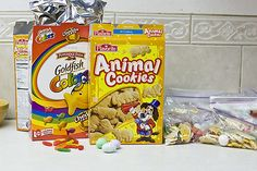 horton hears birthday party -put them in clear bags you can get in the cake baking aisle at walmart