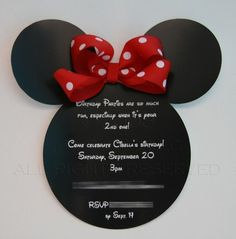 Minnie Mouse invites