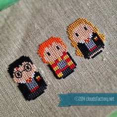 Harry Potter – Harry, Ron & Hermione - Movies - Mini People - Cross Stitch Patterns - Products