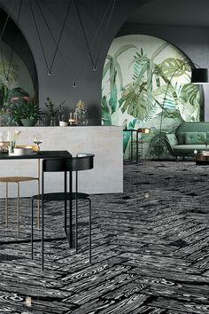 PoPjob by Mirage & #StudioJob ... #design #designinspirations #interior #interiordesign #studiojob #porcelaintile #lounge #woodeffect #black
