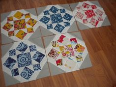 A Quilting Life: Closing In  Like the space that comes from joining the blocks together.