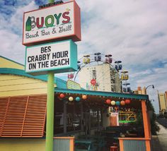 Bouys Beach Bar & Grill | North Myrtle Beach | South Carolina | Photo via IG @_tendermonster Myrtle Beach Bars, North Myrtle Beach South Carolina, Beach Music, Ocean Drive, Bar Grill, City, Cities