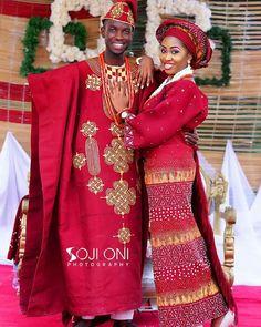 Yoruba Traditional Wedding Attire Styles [Updated May Nigerian Wedding Dresses Traditional, Traditional Wedding Attire, African Traditional Wedding, African Wear, African Attire, African Women, African Dress, African Lace, African Inspired Fashion