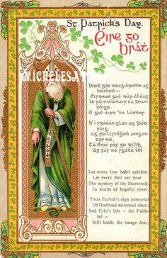 Antique St. Patricks Postcard   Digital Download by MichelesAttic