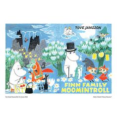 Moomin poster - Finn Family Moomintroll (landscape) - The Official Moomin Shop  - 2
