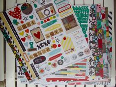 Simple Stories Life in Color Grab Bag Kit for Scrapbooking, Cardmaking, Art Journaling, or Mixed Media, pocket pages, pocket letters by chrystalspace4scrapp on Etsy