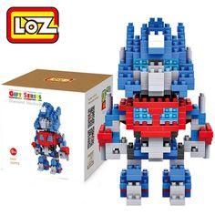 LOZ L - 9402 Transformers Optimus Prime Figure Mini Building Block 250Pcs Educational Kid Toy - COLORMIX