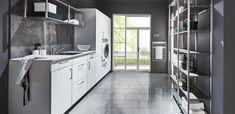 Kitchen Island, Kitchen Cabinets, Home Interior Design, Divider, Laundry, House Design, Room, Furniture, Mud
