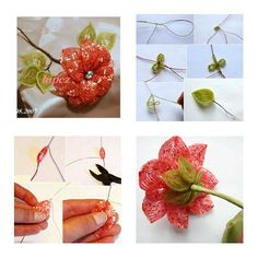 How To Make Beads Apricot Flower step by step DIY tutorial instructions, How to, how to make, step by step, picture tutorials, diy instructions, craft, do it yourself