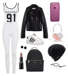 """Sans titre #1496"" by merveille67120 ❤ liked on Polyvore featuring Boohoo, Topshop, adidas, Henri Bendel, Speck, Frends, Coal, ABS by Allen Schwartz and Giorgio Armani"