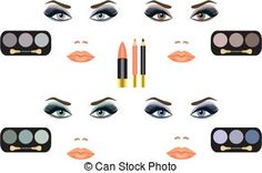 Mascara Silhouette Clip Art | Makeup Illustrations and Stock Art. 19,057 Makeup illustration and ...