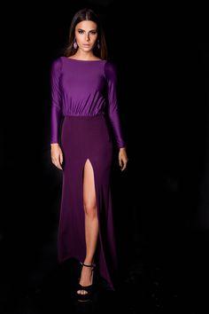 Vestido Liberdade Roxo  #lançamentogaia #gaia #linhafesta #inverno15 #liberdade #vestidodefesta #dresstoimpress #fashion #ootn #modamineira #lavibh