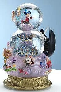 Fantasia musical snowglobe from Fantasies Come True