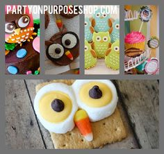 Owl Party Ideas: sweets