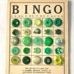 Sew your antique buttons on an old Bingo card for displaying.  !