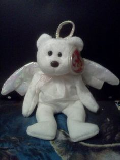 """Angel beanie baby .. named """"Halo"""". i just bought this one on ebay for my grand daughter for Easter"""