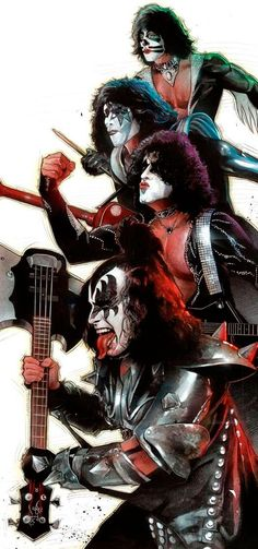 Awesome the Kiss art Kiss Band, Kiss Rock Bands, Rock And Roll, Pop Rock, Paul Stanley, Rock Posters, Band Posters, Rock Chic, Glam Rock