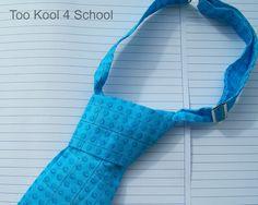Blue Lego Fabric tie