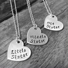 Sister Necklace Matching Little Sister by PreciousPodsBySarahO