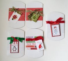 Christmas Pillow Boxes and Tags Set of 5 Gift by CreativeDesigns, $15.00