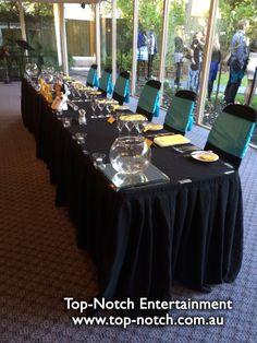 Disney themed wedding table place setting at Bram Leigh Receptions, Croydon, Victoria.  www.top-notch.com.au  www.facebook.com/WeddingDJTopNotch