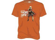 T-Shirt Star Wars Rogue One Shore Trooper Πορτοκαλί - XL   Public