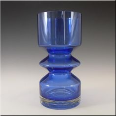 Riihimaki/Riihimaen Tamara Aladin Blue Glass Vase 1472 - £60.00