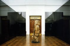 La Jetée, 1997, Graft, 2nd Johannesburg Biennale, South African National Gallery, Cape Town, VHS videotape, steel. Photo: Michael Hall.