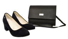 Niskie czarne czółenka z zamszu Roseti. Polskie buty z kopertówką Pumps, Heels, Flats, Fashion, Heel, Loafers & Slip Ons, Moda, Fashion Styles, Court Shoes