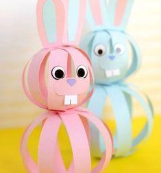 Simple paper strip sphere bunnies - Easter kids' craft // Papír csík gömb nyuszik- vidám húsvéti kreatív ötlet gyerekeknek // Mindy - craft tutorial collection // #crafts #DIY #craftTutorial #tutorial #easter #easterCrafts #DIYEaster