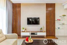 Tv Unit Furniture Design, Tv Unit Interior Design, Bedroom Furniture Design, Tv Cabinet Design Modern, Living Tv, Home Living Room, Living Room Tv Unit Designs, Bedroom Tv Unit Design, Modern Tv Wall Units