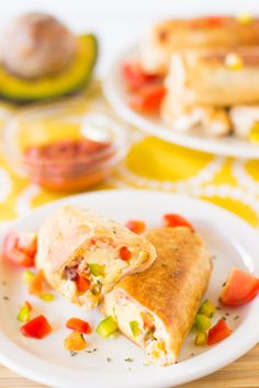These Mexican Breakfast Burritos are crisp on the outside and creamy and delicious on the inside. They are very freezer friendly and were a family favorite easy breakfast!