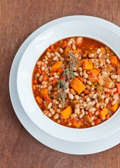 Vegetarian Cassoulet - A Hearty Alternative To Turkey #vegan #vegetarian #glutenfree