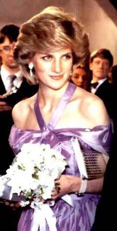 "October 24, 1983: Princess Diana at the premiere of ""Hay Fever"" at the Queen's Theatre in Shaftesbury Avenue."