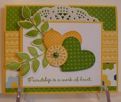 Stampin Up Handcrafted Paper Friendship Card