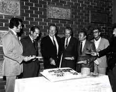 John Wayne's 40th Anniversary in Films: Rock Hudson, Fred MacMurray, John Wayne, James Stewart, Ernest Borgnine, Michael Caine and Laurence Harvey