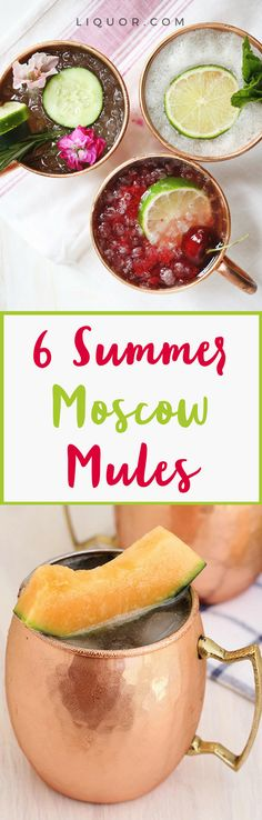 Step your #moscow #mule game up a notch with one of these beautiful and tasty upgrades.