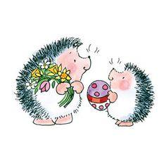 Easter Exchange Hedgehog Rubber Stamp • Cute Hedgehog Stamp • Stamping • Card Making • DIY Projects • Crafting • Paper Crafting (3617J)